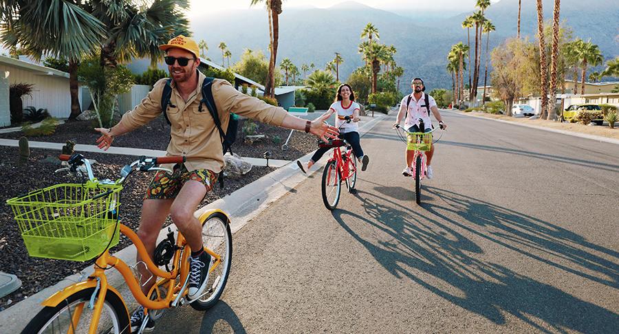 biking in palm springs