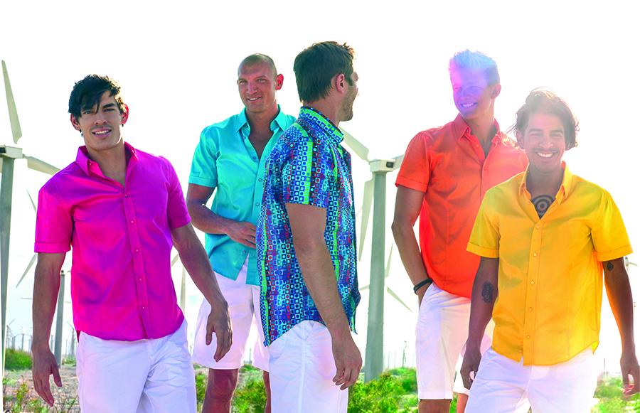 Men wearing Wil Stiles shirts