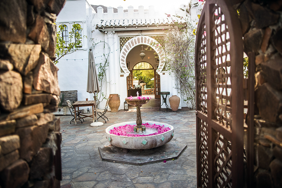 Courtyard at Korakia Pensione