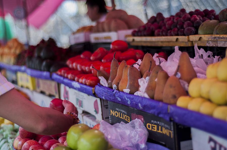 Fresh fruit and vegetables at VillageFest market